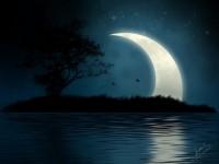 New MoonShining-Moon-Mystical-Island-Wallpaper