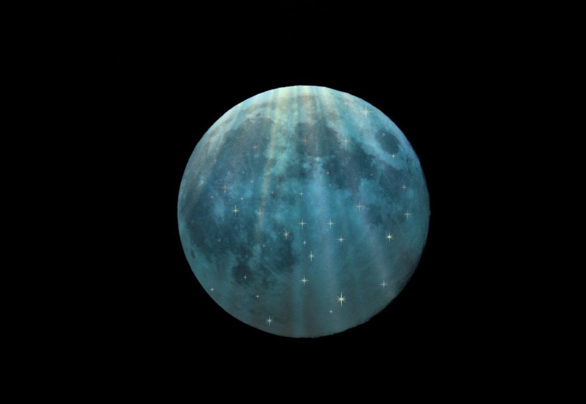 Aquarius Full Moon, Star of David, Grand Square & Grand Sextile